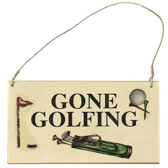 Türschild Gone Golfing