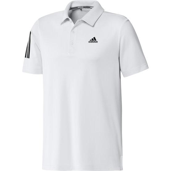 Image of Adidas 3-Stripe Basic Halbarm Polo weiß