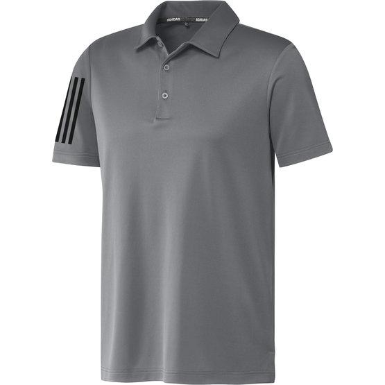 Image of Adidas 3-Stripe Basic Halbarm Polo grau