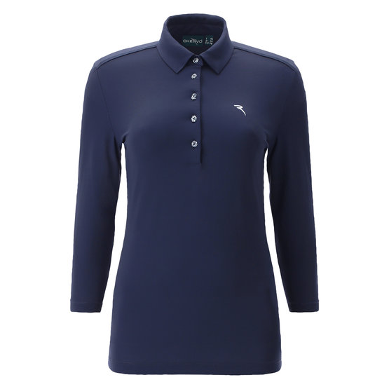 Image of Chervo Aleppo3/4 Arm Polo navy